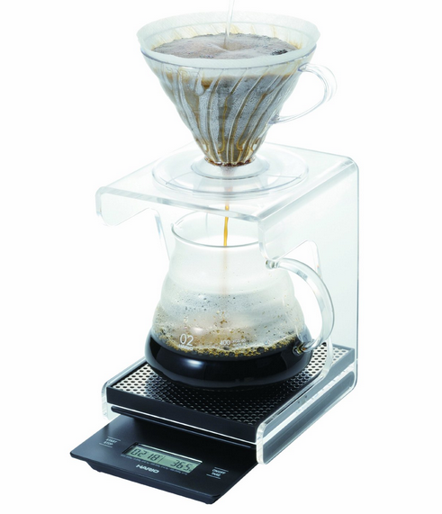 Acrylic commerical pour over coffee stand