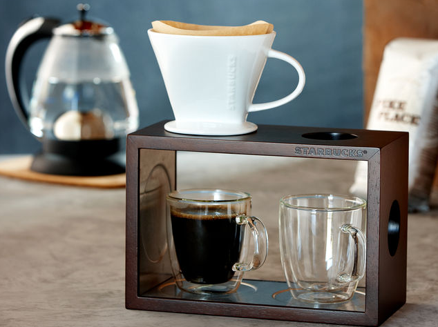 top commercial pour over coffee stand - starbucks