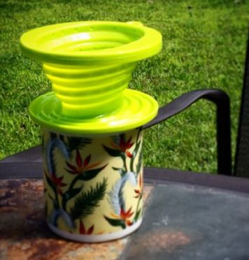 Collapsible pour over coffee for camping